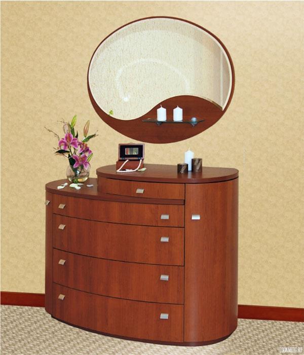 Комоды для спальни с зеркалом